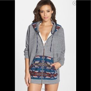 Roxy x Pendleton zip front Navaho print hoodie